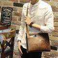 Hot sale fashion crazy horse PU leather men bags small shoulder bag men messenger bag crossbody leisure bag ipad handbag brown