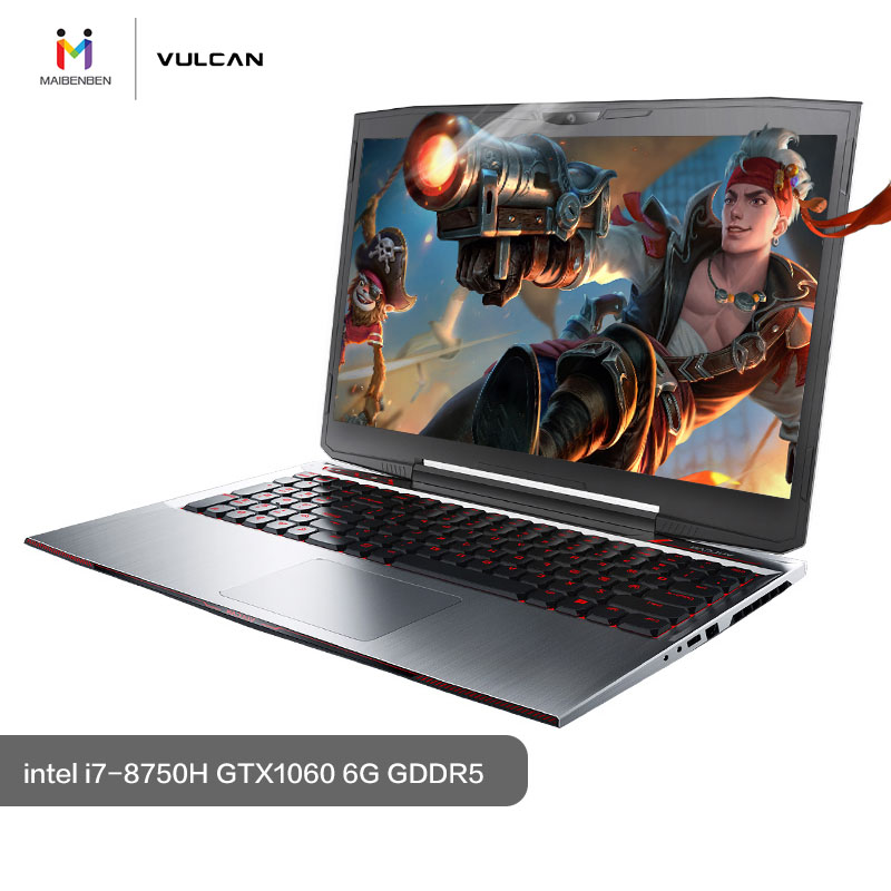 MAIBENBEN Gaming Laptop JinGang T6 15 6 quot i7 8750H 8G RAM PCI E 256G 1TB NVIDIA GTX1060 Graphic Card DOS 4K Screen Game Notebook in Gaming Laptops from Computer amp Office