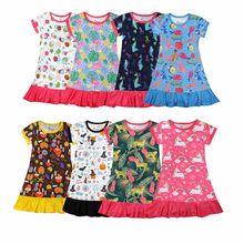 Robe de nuit d'été pour filles de 1 à 10 ans, impression 3D de dessin animé, Pijama princesse