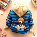Клиренс Низкая цена высококачественные Детская одежда ребенок верхней одежды ребенка хлопка мультфильм теплое пальто 3 цвета для мальчиков и девочек зима