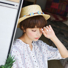 1 Pcs 2017 Koraen Fashion Sunflower Parent-child Sun Hats Spring Summer  Brand Straw Hats 237464e9d011