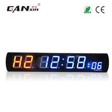 [Ganxin] cyfrowy siłownia zegar ścienny elektroniczny led interwał czasowy tanie tanio GI2R+4B+2 3B 33 86 +6 3 +1 57 (86cm*16cm*4cm) 4 +2 3 (10 16cm+5 84cm) Remote Control CE RoHS Led digit tube Black Aluminium Alloy