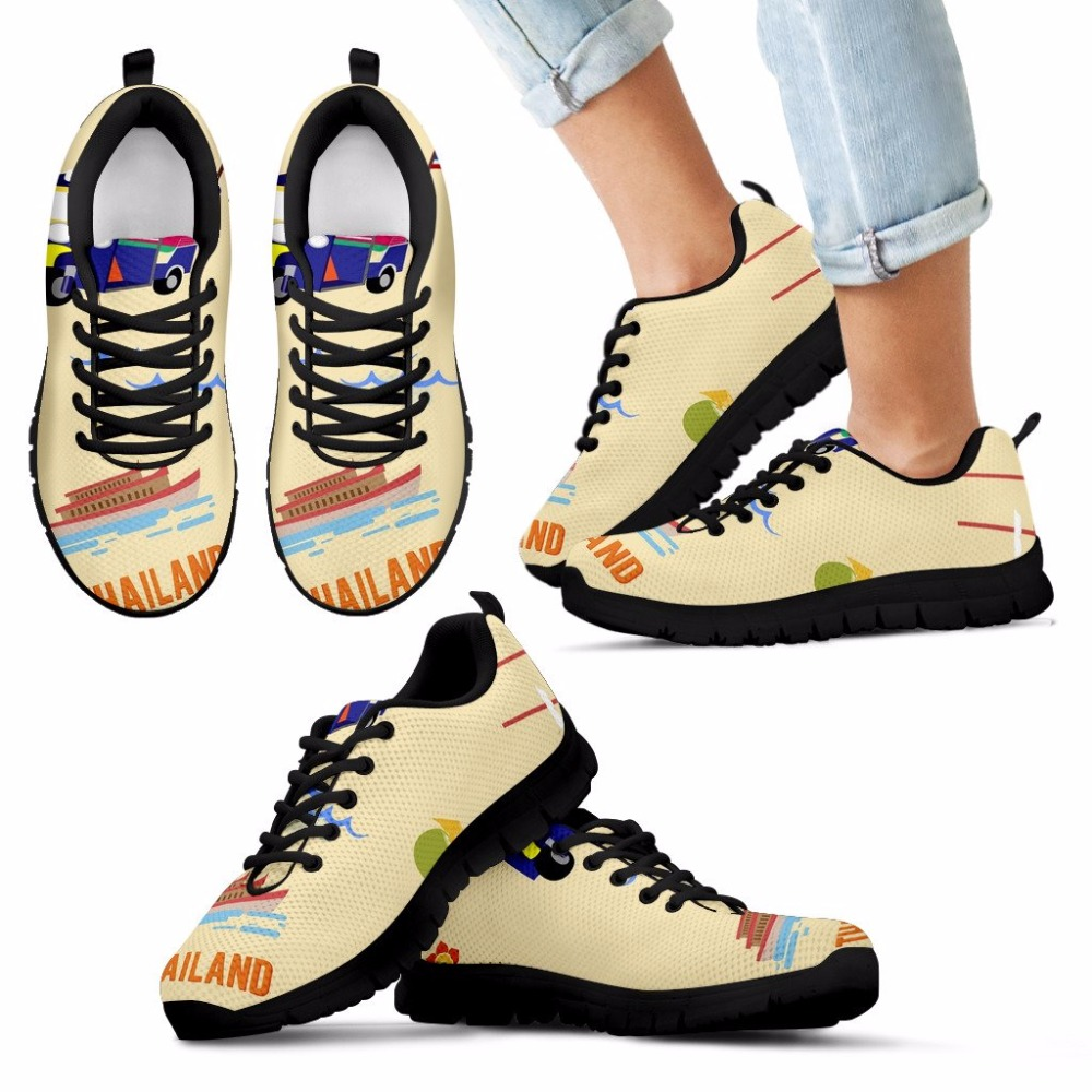 be1ce332df774 INSTANTARTS 2018 Women Men Running Shoes Taxi Car Thailand Printed Sneakers  Student Female Male Couple Lover Walking Sport Shoes