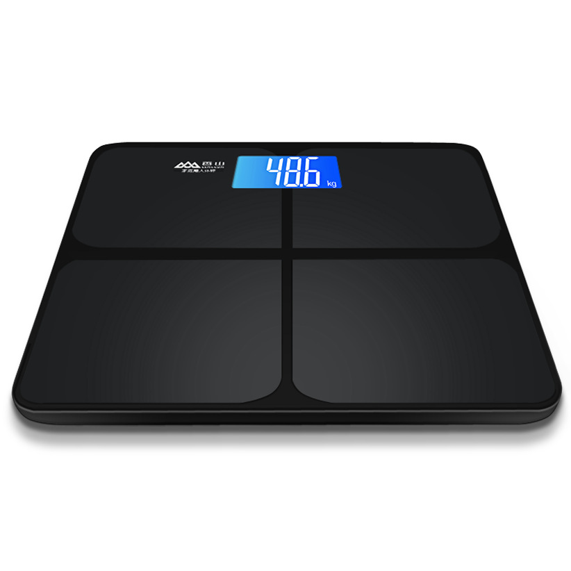 Brand quality electronic scales weighing precision squares tempered glass LCD digital display household scales bathroom supplies