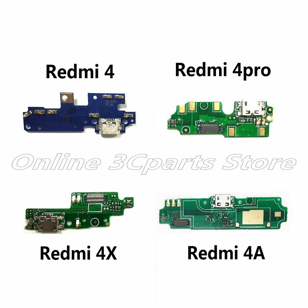 New Microphone Module+USB Charging Port Board Flex Cable Connector Parts For Xiaomi Redmi 4 4Pro 4A 4X Replacement