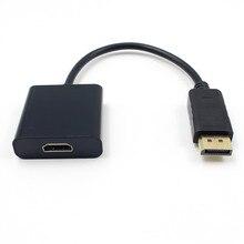 200 шт./лот Дисплей Порт DP к HDMI Кабель-адаптер DP Дисплей port мужчин HDMI Женский конвертер Кабель-адаптер для портативных ПК