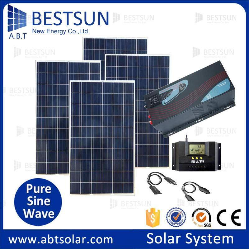 Complete Portable Solar Power System With Battery And Brackets 500 To 5000w For All Family And