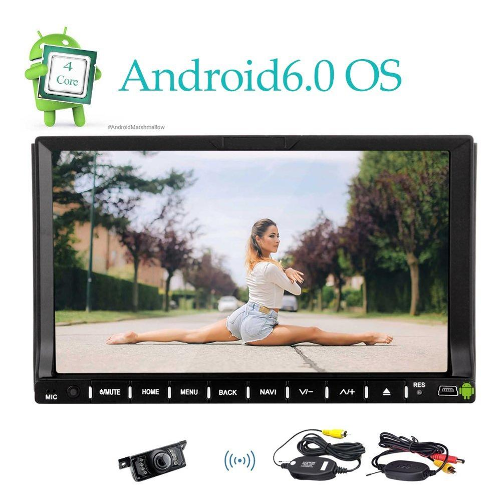 Wireless Rear Camera 7 font b Car b font Stereo Autoradio In Dash 2Din Headunit Dvd