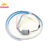 Oobest Ice Blue Red Yellow White Multi Function RGB LED Strip Trunk Tail Light Brake Lamp