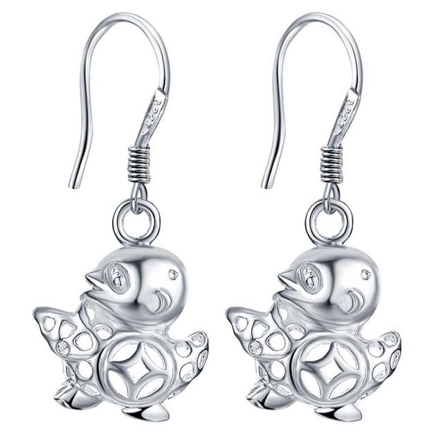 Contracted bird 925 silver earrings hook women silver jewelry dangle earring Christmas gift CAE047
