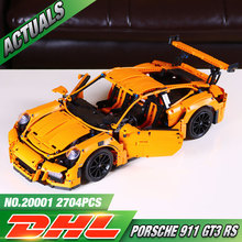 LEPIN 20001 technic series 911 GT3 RS Model Building Kits Mini figures Blocks Bricks Boy Toys Compatible With legeod 42056