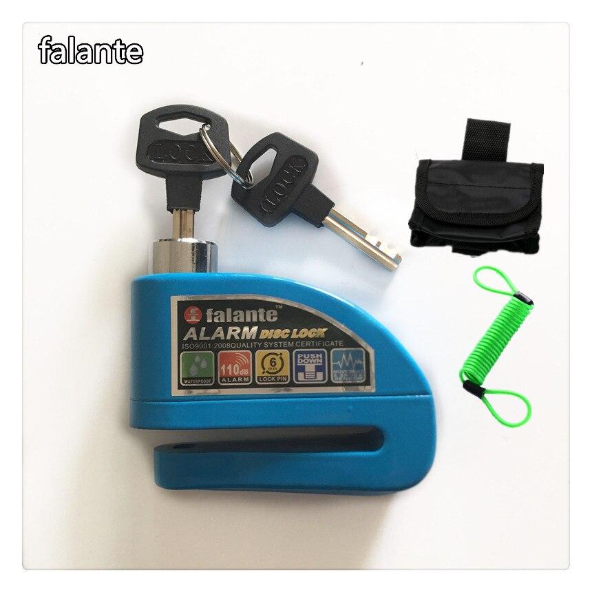 Security burglar alarm lock motorcycles moto bike alarm disc lock high score bass wheel alarm lock