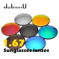1.67 Index Anti UV Polarized Protection Sunglasses Lenses Fashion Men Women Optical Sunglasses Lenses Colorful Lenses