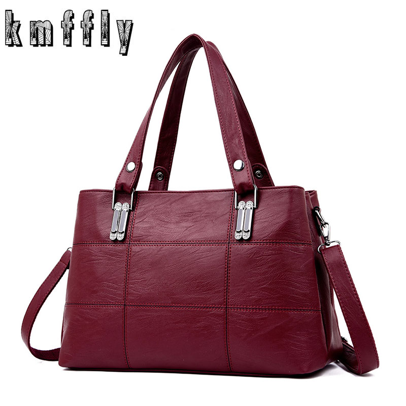 Big Lattice Top Handle Bags For Women 2019 Sac A Main Femme Luxury Handbags Women Bags Designer Ladies Hand Bags Casual Tote in Shoulder Bags from Luggage Bags
