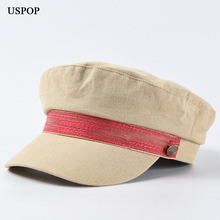 USPOP 2019 New Newsboy caps fro women autumn hats fashion solid color military caual  flat top visor