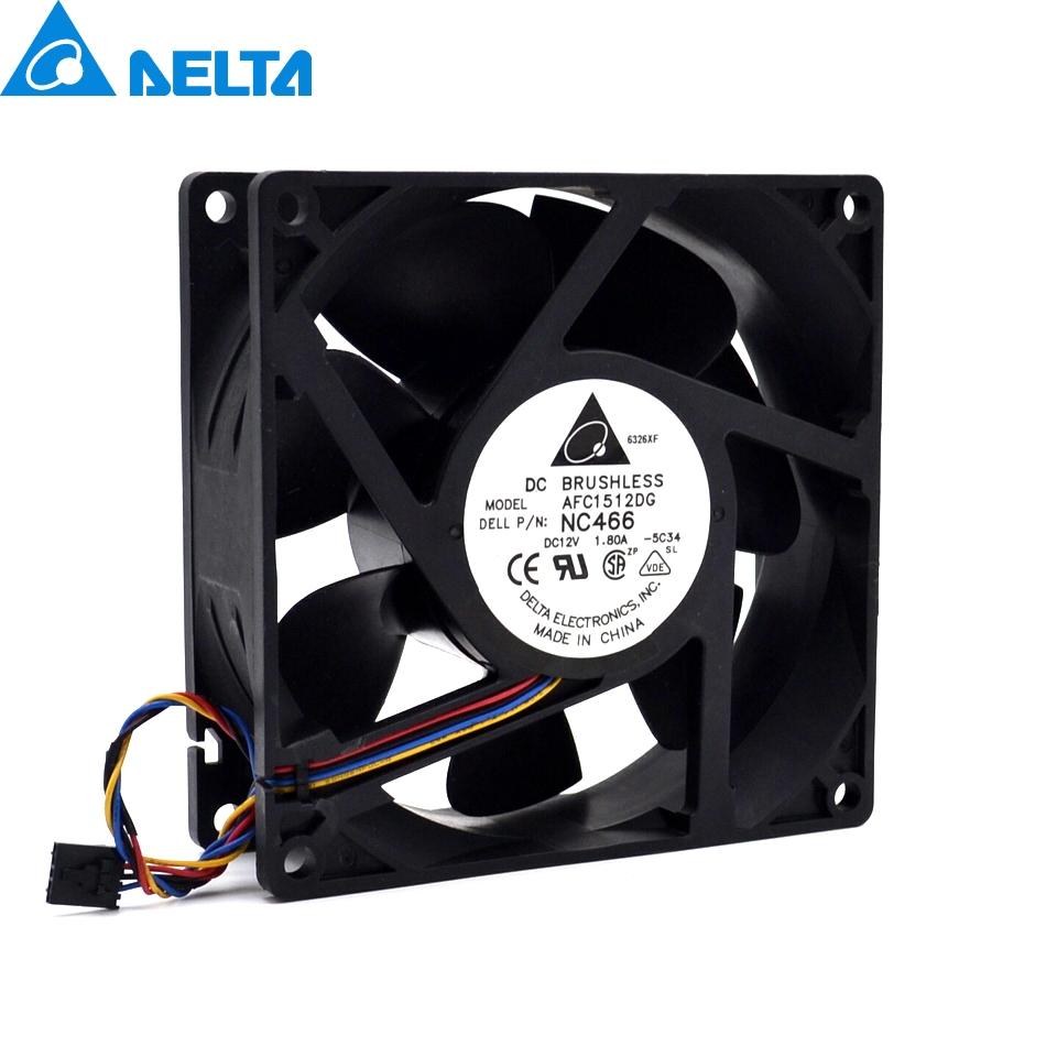 Delta  New 15050 12V 1.8A NC466 MC502 MC527 DG168 AFC1512DG low noiec fan 150*150*50mm delta 12038 12v cooling fan afb1212ehe afb1212he afb1212hhe afb1212le afb1212she afb1212vhe afb1212me