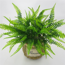 7 Forks Artificial Persian Grass Fake Green Plants Wedding House Balcony Garden Decoration Scenery Flower 42cm