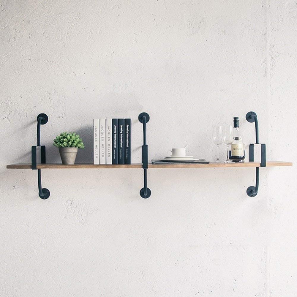 Wall Shelves Floating Shelf Wall Bookrack Iron Shelves Display Commodity Shelf Unit Room Divider Shelf Industry Style