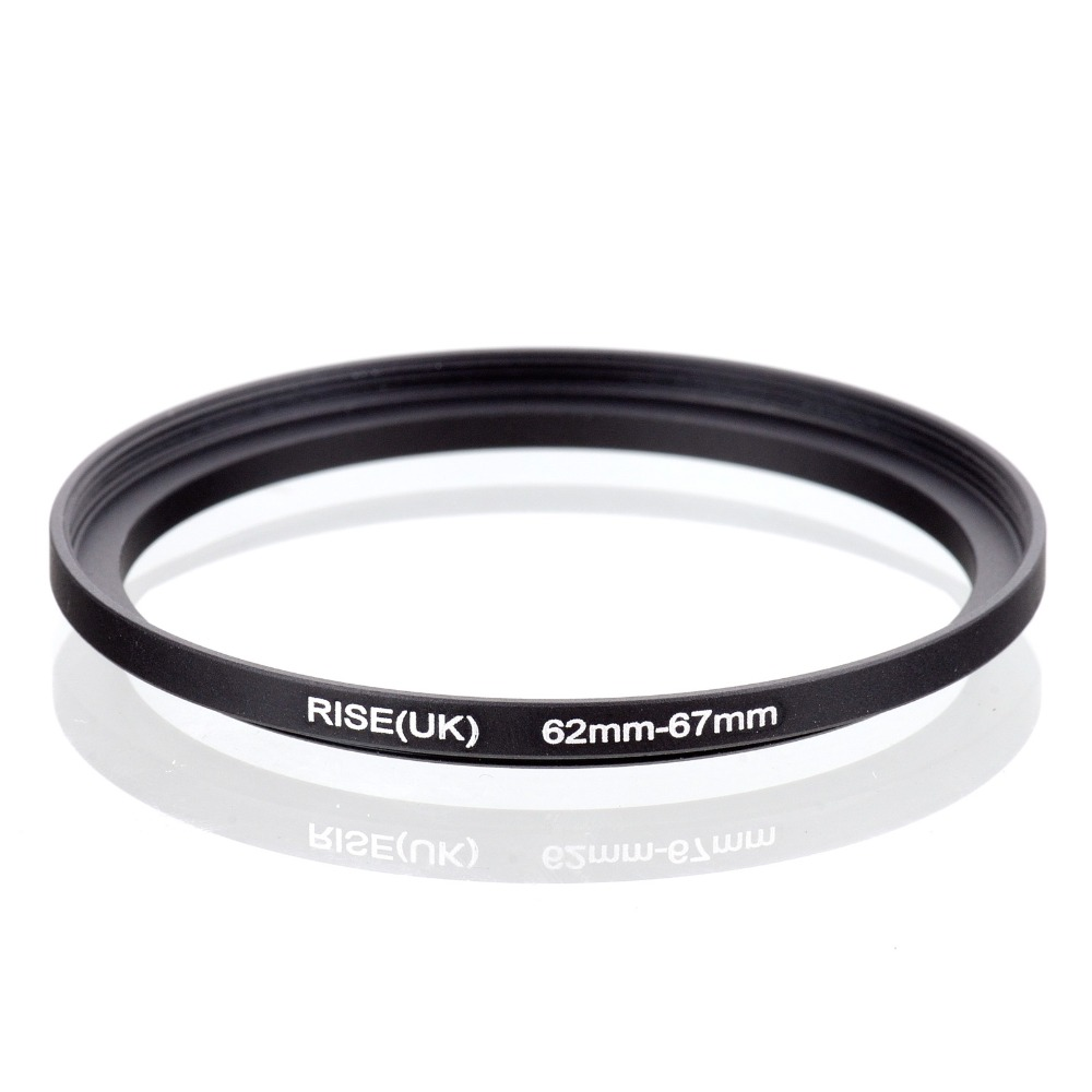 original RISE(UK) 62mm-67mm 62-67mm 62 to 67 Step Up Ring Filter Adapter black free shipping
