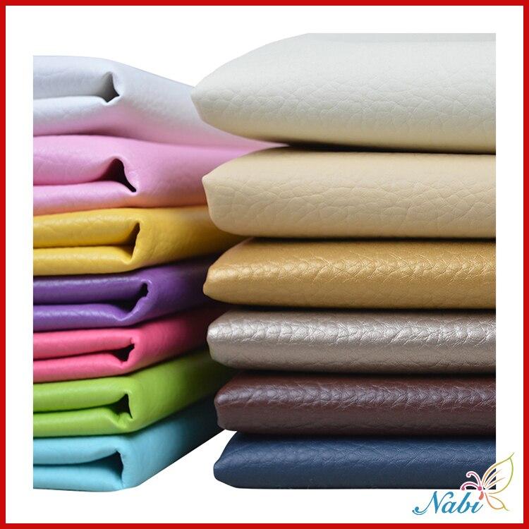 50 140 cm suave Pu Napa vinilo cuero ecológico cuero Artificial para asientos de coche sofá muebles tapicería Material impermeable