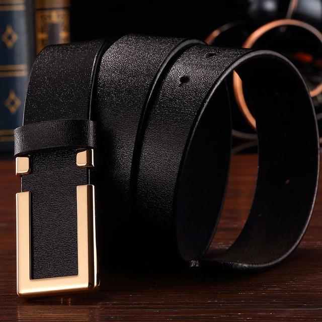 BlackCattle Mens Belts Designer Belts Men High Quality Italian Style Genuine Leather Tactical Belt  Men Dress Leather Belt
