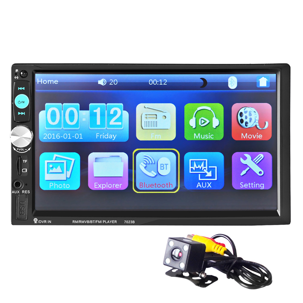 Auto Radio 2 din car radio Video Player 7'' HD Bluetooth Rear View Stereo FM MP3 MP4 MP5 Audio USB Auto Electronics autoradio 2 din 7 car radio player hd rear view camera bluetooth stereo fm mp3 mp4 mp5 audio video usb auto electronics autoradio charger