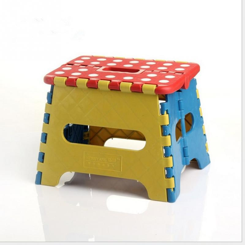 Portable Thick Plastic Kids Folding Stool Outdoor Activity Tool Home Traveling Necessity
