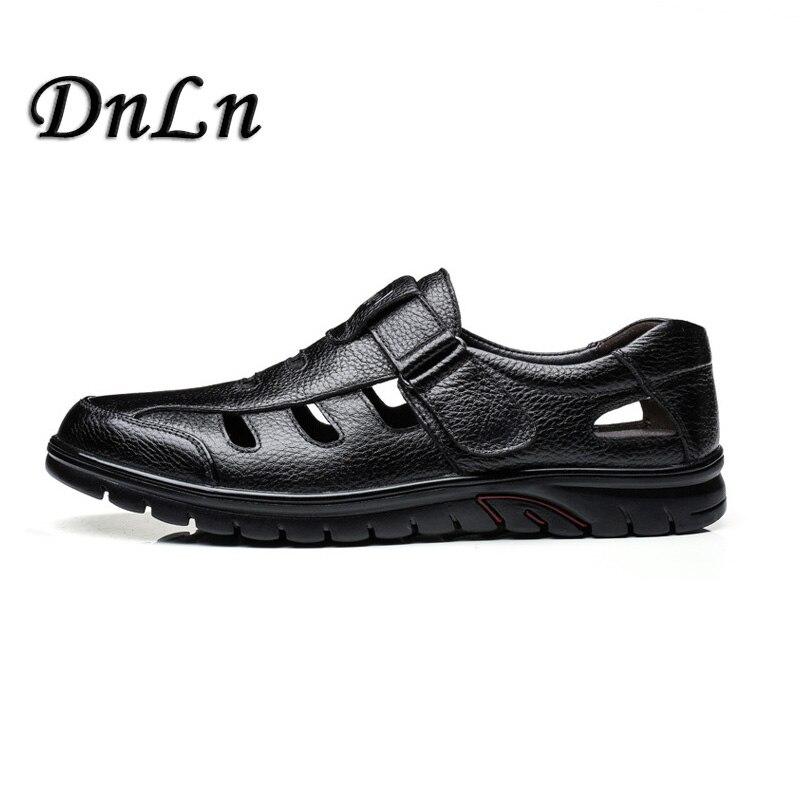 Size 37~45 Men Fashion Sandals Men Summer Leather Shoes Man Casual Flat S