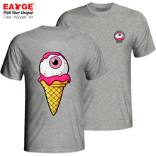 How Lovely This Icecream Is T Shirt Brand Creative Novelty T-shirt Active Rock Casual Unisex Cotton Gray Double Sided Tee цена