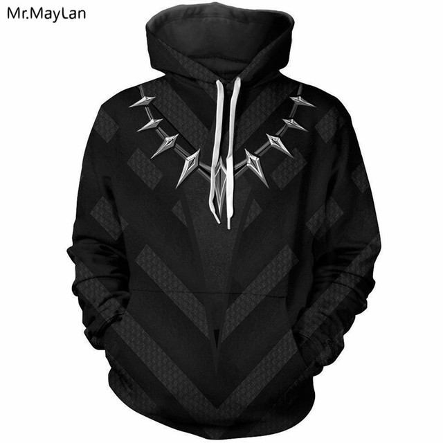 e52519a7582d Marvel Movie Black Panther Cosplay 3D Print Jacket Hoodies Men Women Hiphop  Pullover Hood Sweatshirts Boys Casual Black Clothes
