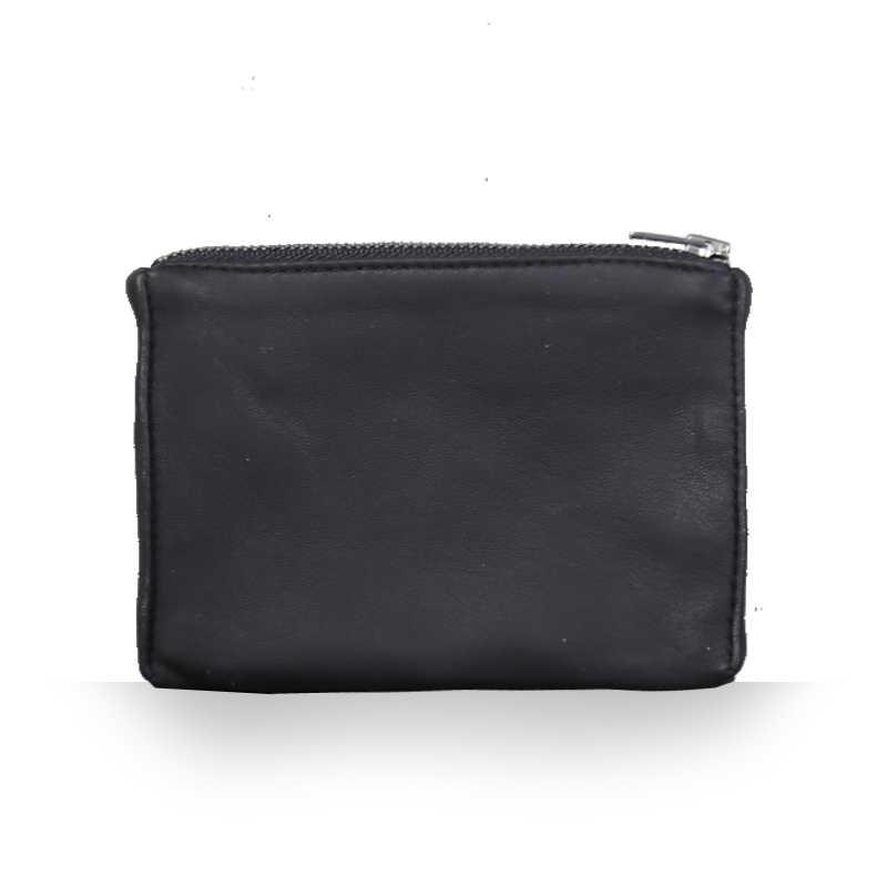 محفظة للعملة جلد طبيعي المرأة صغيرة محافظ الرجال بسيط البسيطة محفظة لينة الغنم حقيبة أموال المال تغيير حقيبة بطاقة محفظة