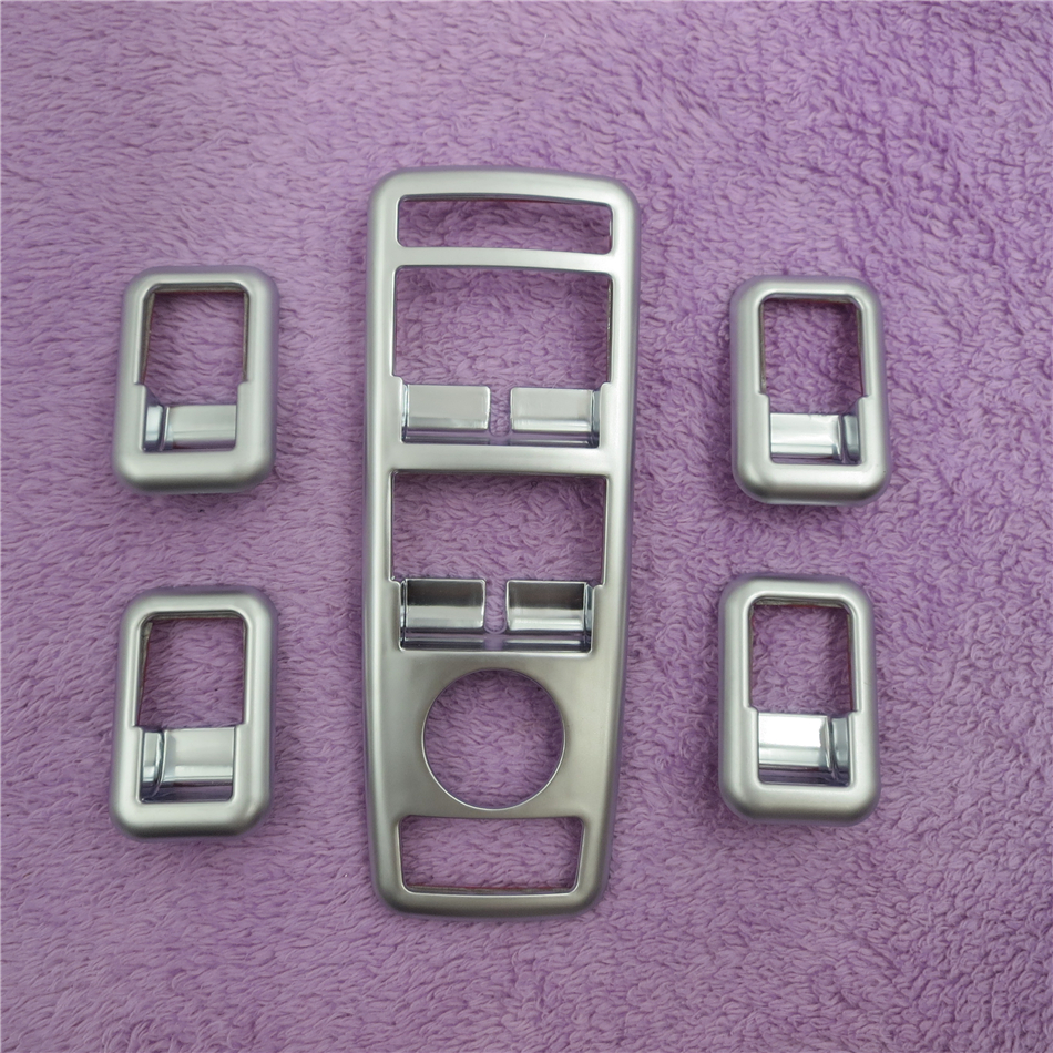 TTCR-II Car window glasses lifter button decoration Frame stickers For Benz A C B E GLK ML GL G500 GLA Class Covers