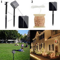 50M 500 LED Copper Wires Solar String Fairy Lights Premium Quality Solar Panel 8 Modes Lampara