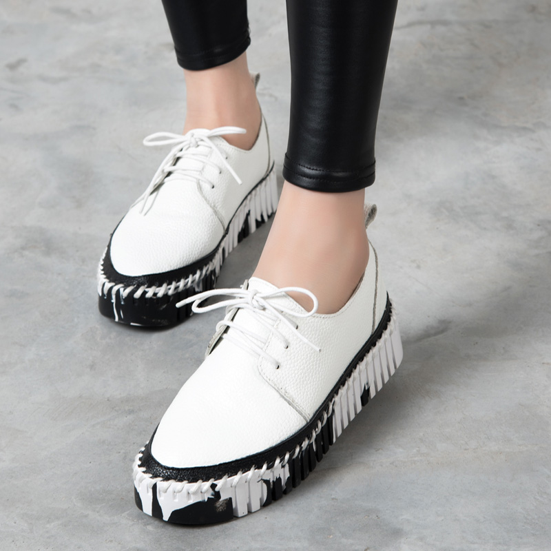 NEW 2016 Brand Women shoes real leather Loafers Flats Shoes Strap shoes Woman Casual Slip on Platform Shoes Ladies Creepers rc car hsp skeleton 1 5 gas truck 4wd off road monster 30cc engine item no 94050