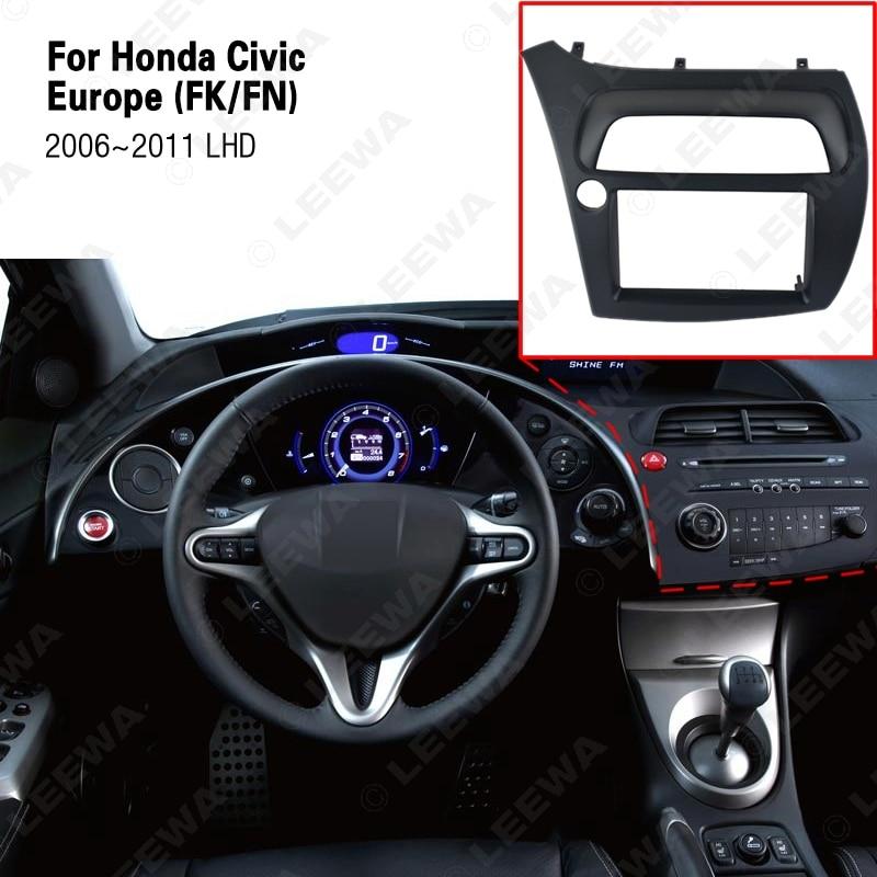 LEEWA Двойной Дин фасции для Honda Civic Радио DVD стерео CD панель тире Монтажная Установка отделка комплект передняя рамка# CA2652