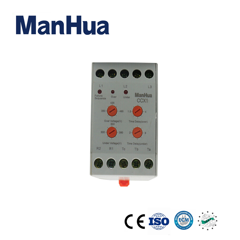 ManHua 380VAC 3 Phase Protection Relay XJ11 Phase Failure Relay For Sealed Voltage Unbalance Failure Device Relay