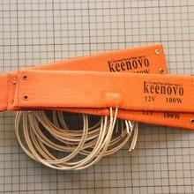 KEENOVO силиконовый нагревательный коврик WVO SVO автомобильный топливный фильтр дизельный Обогреватель 50X250 мм 12 в 100 Вт индивидуальный дизайн приветствуется