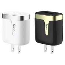 HOCO C64 Dual USB Charger 2.1A Travel Power Adapter For IPhone Xs/Xr/x/8 Sumsung Galaxy S10/S9 Portable US Plug