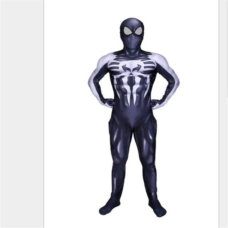 Halloween Christmas Party Cosplay costume Cos Black venom Spider-Man Tights Anime Jumpsuits High Quality Unisex Adult Children