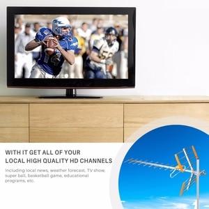 Image 3 - هوائي تلفاز رقمي عالي الدقة من Powstro لـ HDTV DVBT/DVBT2 470 MHz 860 MHz هوائي تلفاز خارجي رقمي مضخم HDTV