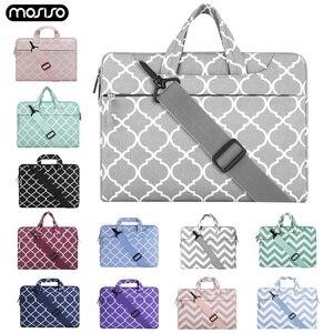 Image 1 - MOSISO Laptop Tasche Sleeve Für Macbook Pro 13 15 Notebook Handtasche Schulter Taschen Für Xiaomi Air 13,3 15,6 Oberfläche Pro 3 4 5 6 abdeckung