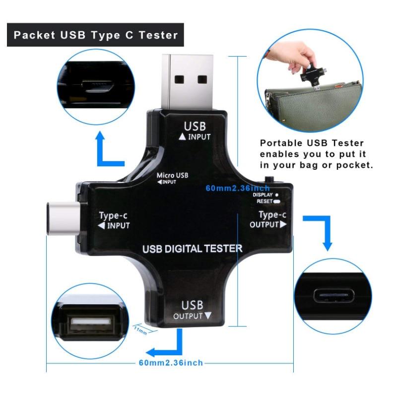 ATORCH Tipo-C pd Probador USB DC Voltímetro digital amperimetro - Instrumentos de medición - foto 5