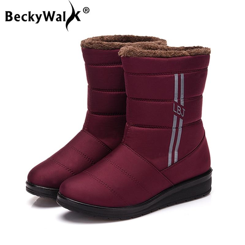 f50bd3bebb8 Las púrpura Botas De Luz Invierno Y Zapatos Alta Negro Caliente Mujeres  Mujer Wsh3142 Becerro Cómoda Felpa Casual ...