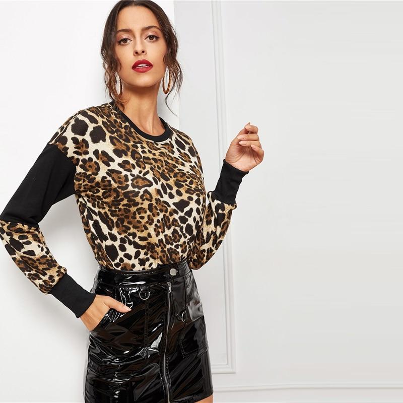 Swaggy HTB1Kg15XOzxK1Rjy1zkq6yHrVXaY Schwarzer Leoparden Pullover