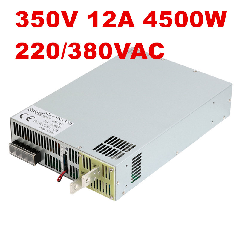 4500W 350V 12A DC35-350V power supply AC-DC High-Power PSU 0-5V analog signal control SE-4500-350 DC350V 12A 220VAC 380VAC