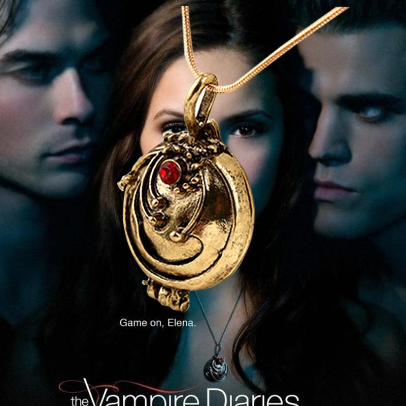 Elena Vervain Locket Necklace or Keychain Bronze Color Vampire Diaries Inspired
