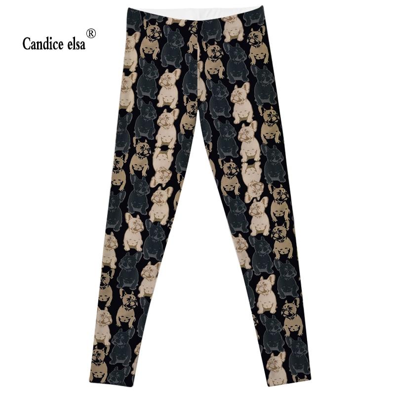 CANDICE ELSA säärised naiste treeningud naissoost püksid elastsed fitness-säärega mandunud koeraga trükitud püksid pluss suurusjärgus saatmine