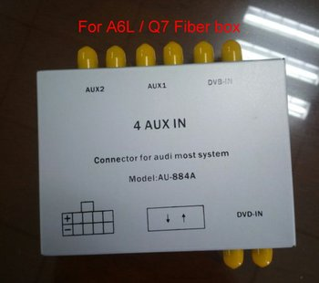 Special Speakers & Power Cables For Audi A6L / Q7 Car With Optical Fiber Amplifier Box