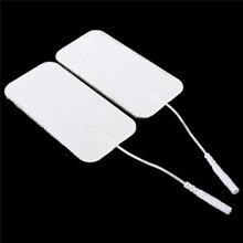 100 unids/lote Almohadillas Adhesivas reutilizables para electrodos de Terapia Física masajeadores para máquina Tens herramienta de cuidado de la salud de reemplazo
