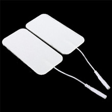 100pcs/lot Reusable Physical Therapy Electrode Adhesive Pads Massagers For Tens Machine Replacement Health Care Tool